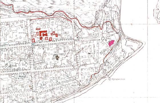 Рис.2 - фрагмент карты 1953 г.